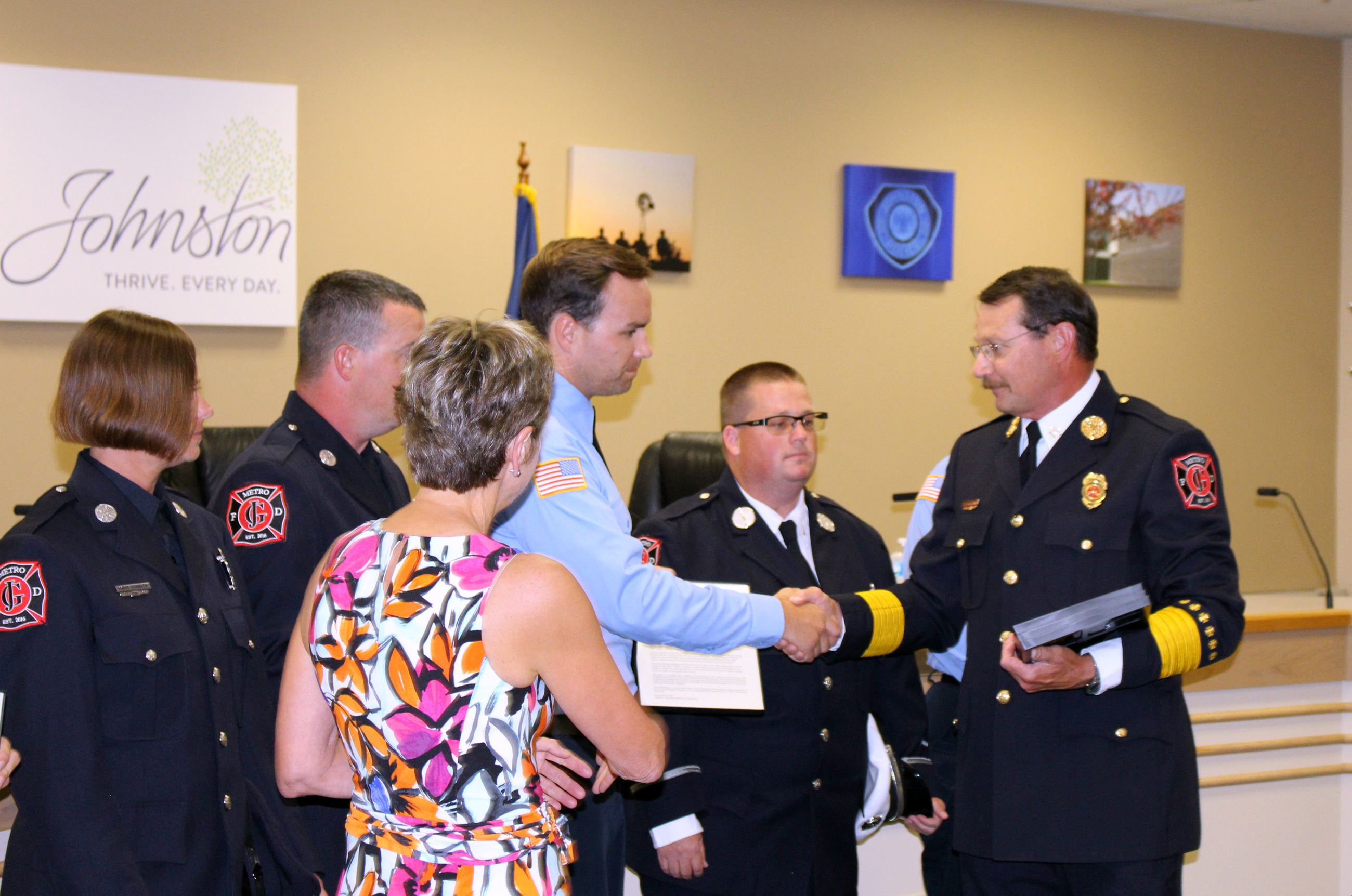 Chief Clark awarding Alex Headley (July 2017)