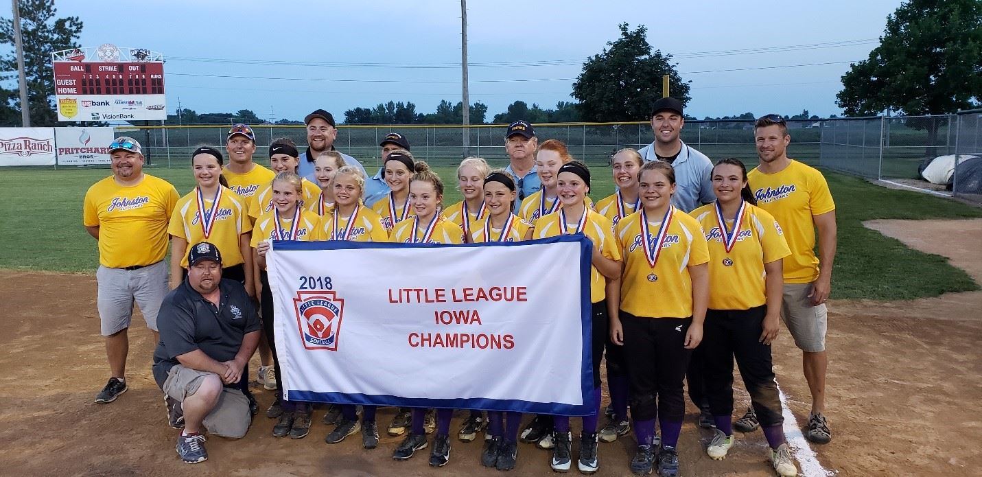 2018 Johnston Girls Softball Little League State Champions