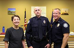 Mayor Paula Dierenenfeld_Officer Curry_Chief Dennis McDaniel_5.20.19_SMALL