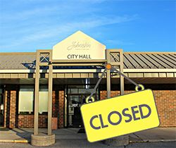 City Hall Closed_250x210