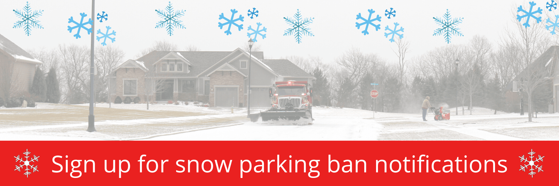 snow parking ban notifications