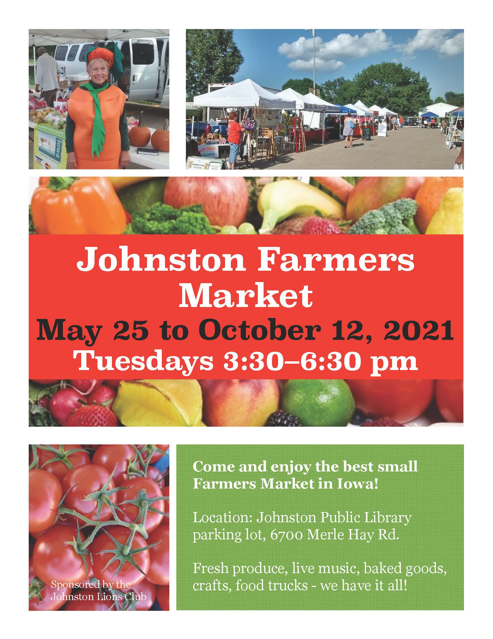Johnston Farmers Market 2021
